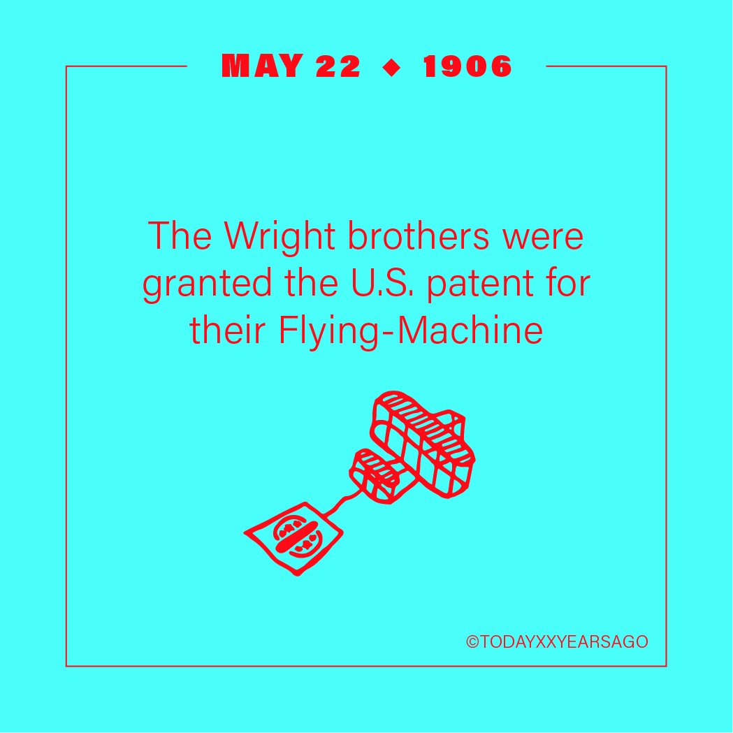 May 22 Wright Brothers Patent Flying Machine