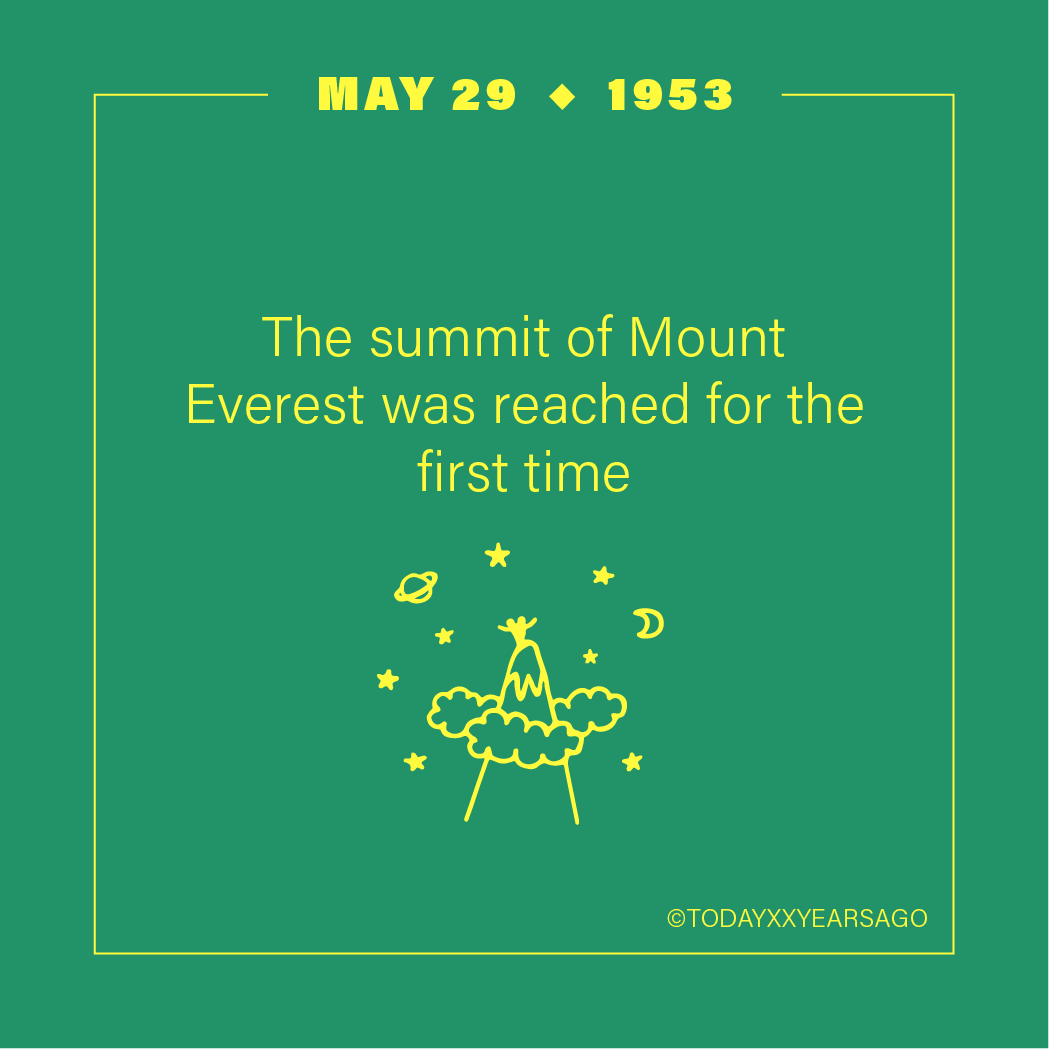 May 29 Summit Mount Everest Reached For the First Time
