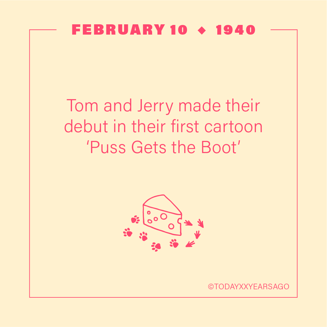 Tom and jerry Debut Their First Cartoon Puss Gets the Boot