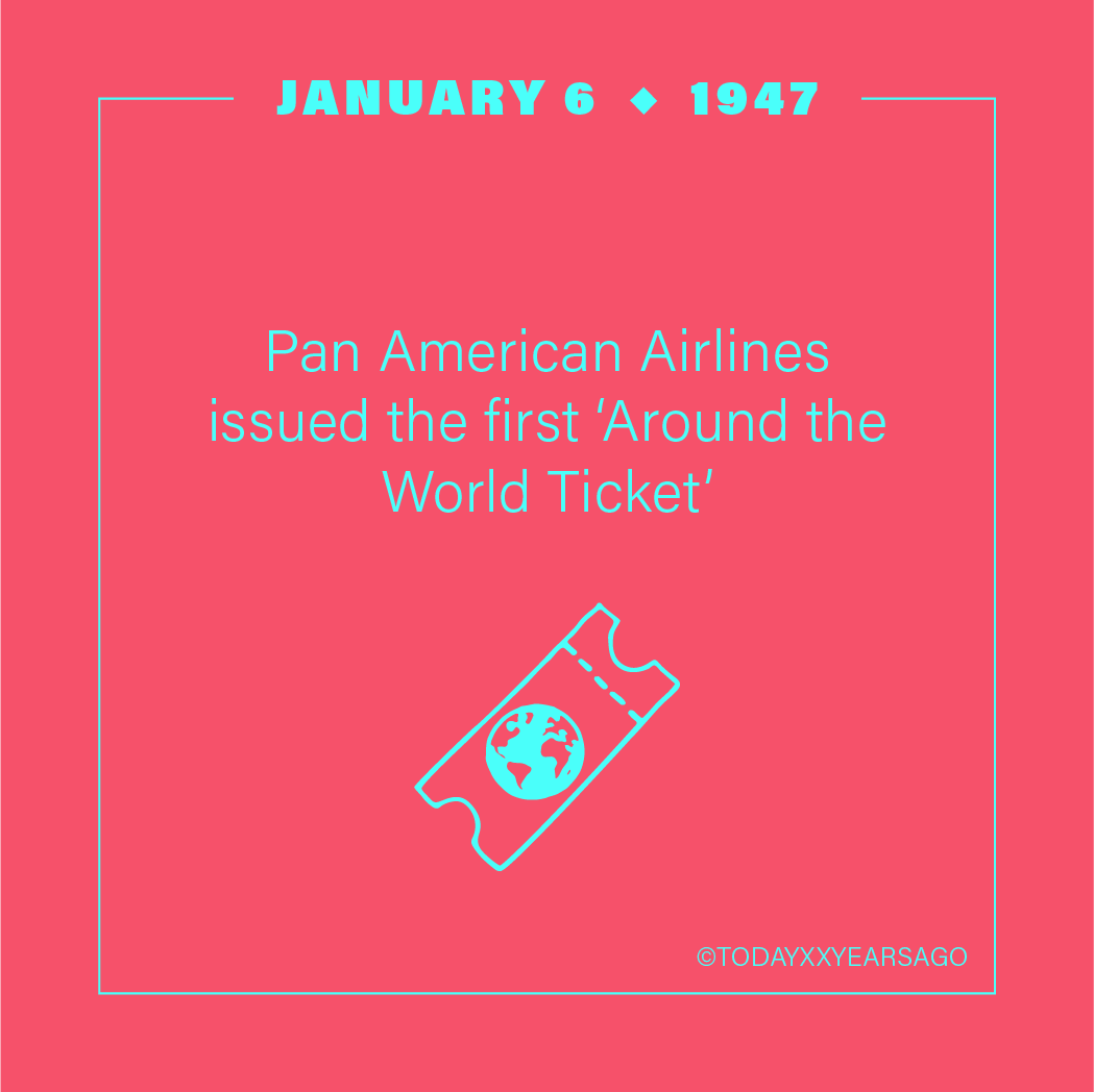 Pan American Airlines Issued First Around the World Ticket