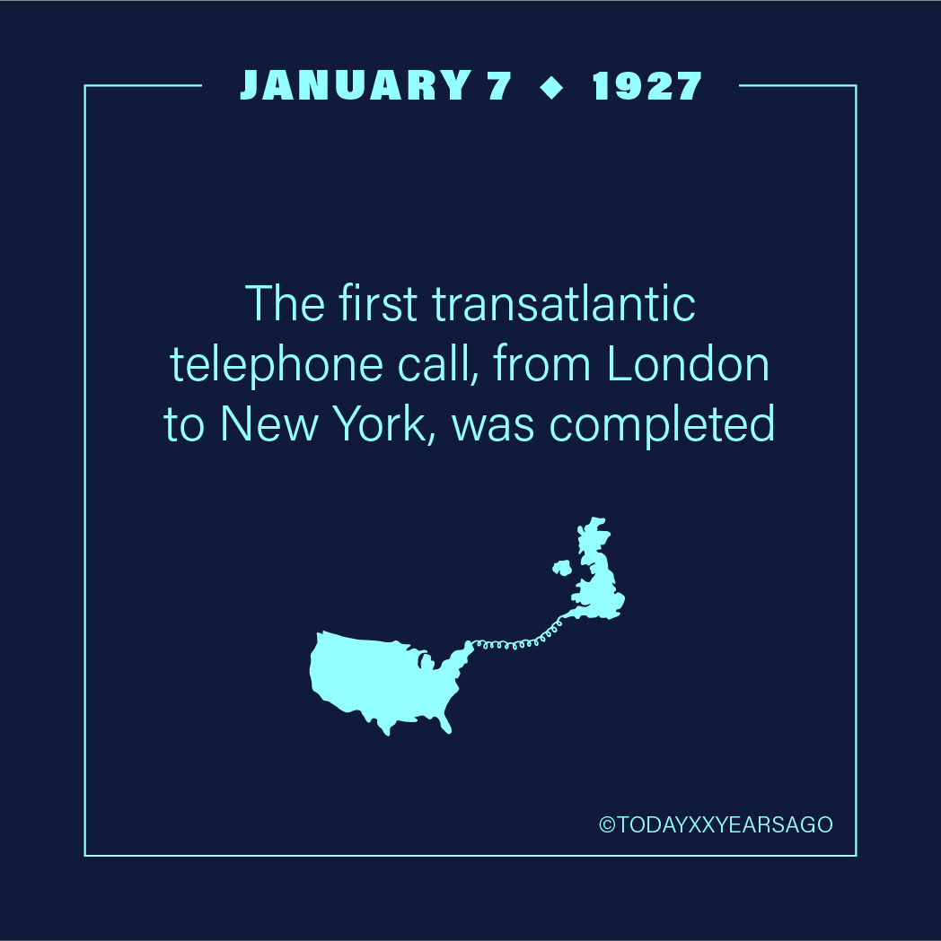 First Transatlantic Telephone Call From London to New York Completed