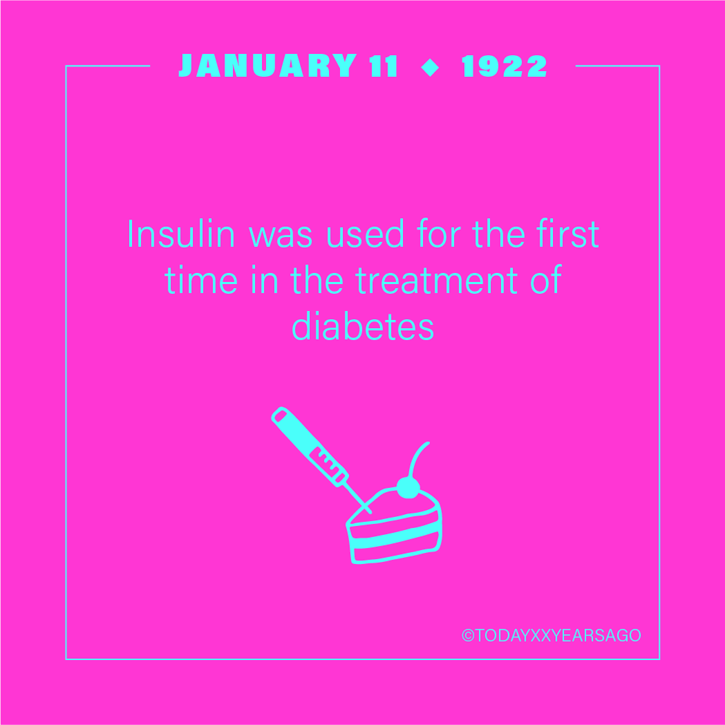 Insulin Used For First Time in Treatment of Diabetes
