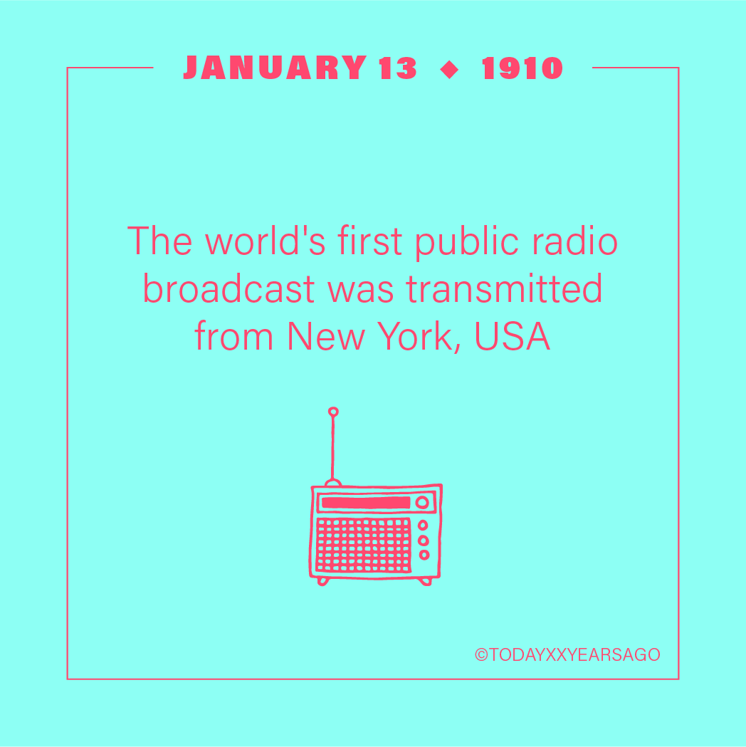 Worlds First Public Radio Broadcast Transmitted from New York