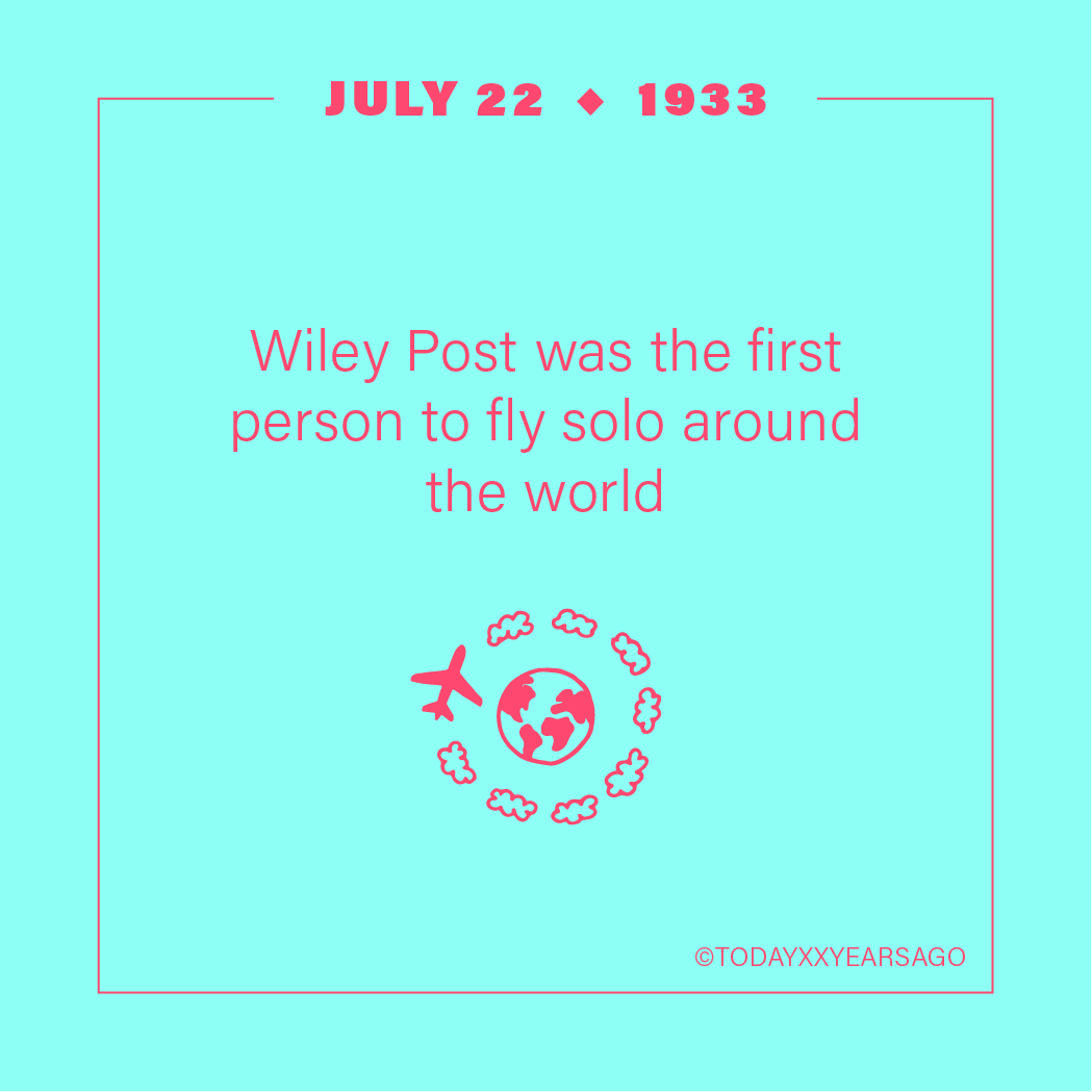 Wiley Post First Person to Fly Solo Around the World