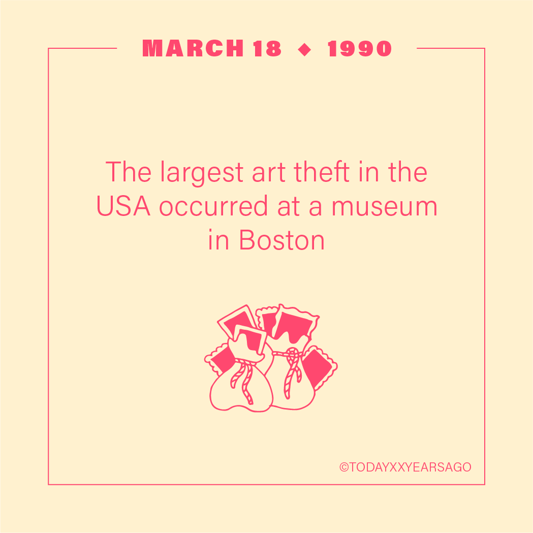 Largest Art Theft in USA Occurred in Boston Museum