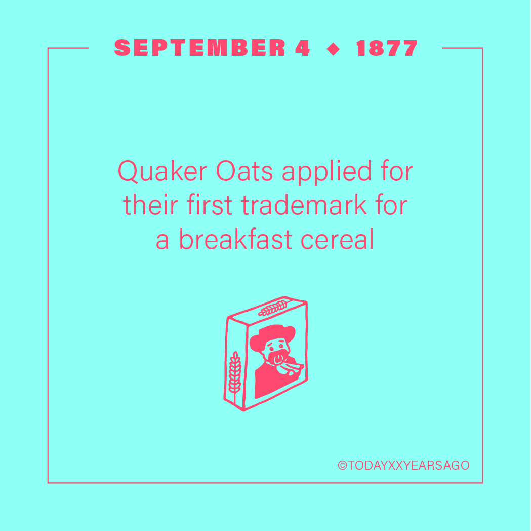 Quaker Oats Applied First Trademark Breakfast Cereal
