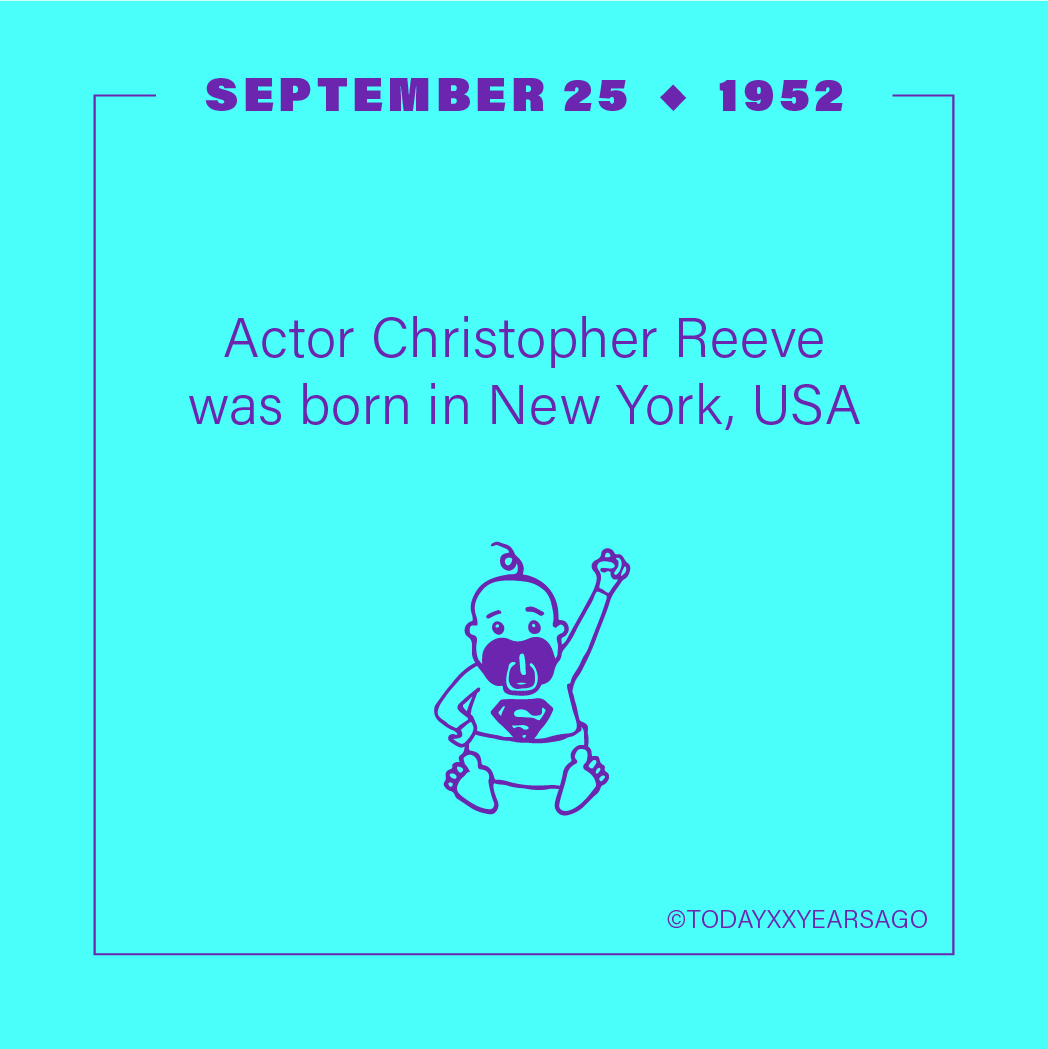 Actor Christopher Reeve Birthday